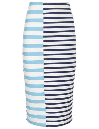 skirt pencil skirt striped skirt blue and white
