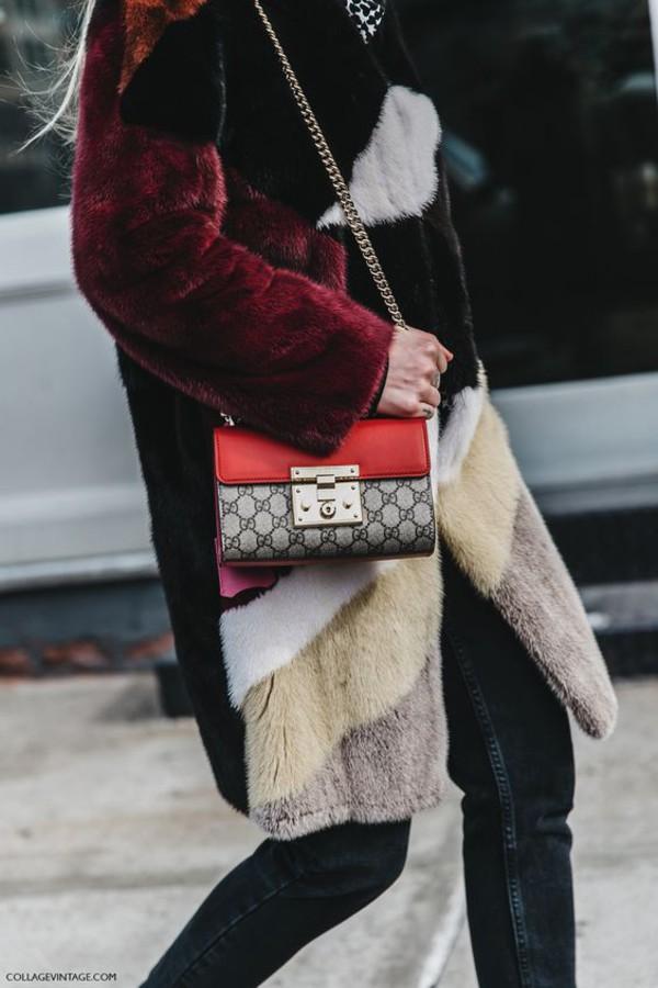 c6cd3f8231ed bag gucci bag crossbody bag fur fur coat designer bag gucci