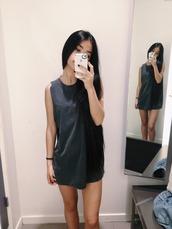dress,black t-shirt dress,black dress,black,tumblr,found it on tumblr,t-shirt dress,casual dress,grey,monochrome,grey dress,navy,plain dress,t-shirt