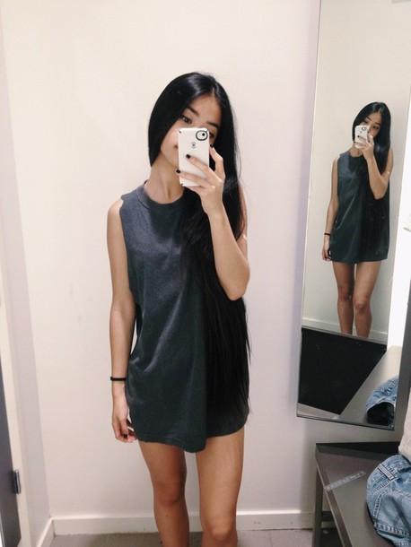 Black shirt dress tumblr