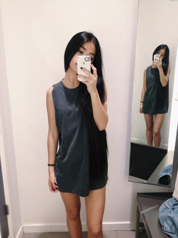 Dress Black T Shirt Dress Black Dress Black Tumblr
