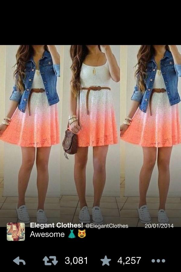 dress colorful bright summer dress jacket