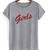 Girls red letters friend tv show T-shirt