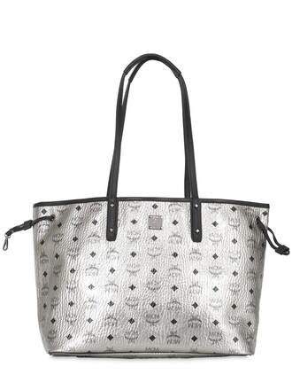 bag tote bag leather tote bag leather silver