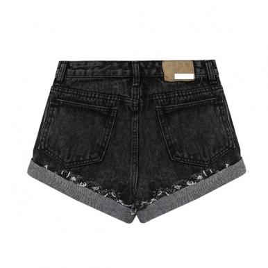 Elegant Tassel Decorate Curled Side Short Pants