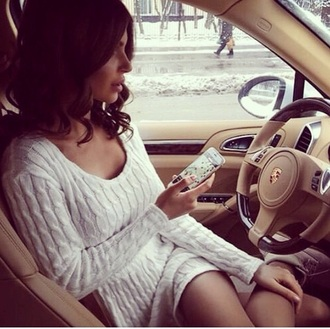 dress wool white nude classy hot winter outfits knitted dress winter dress