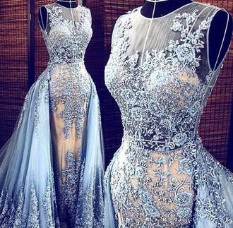 dress blue dress lace dress elegant dress luxury sexy dress
