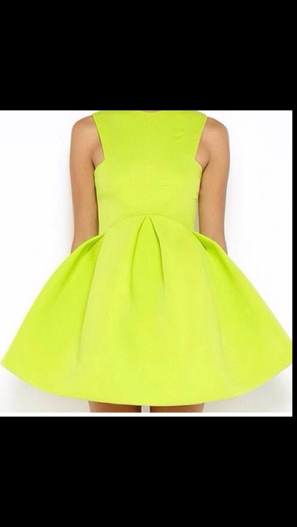 dress neon yellow yellow dress sundress summer cute cute dress