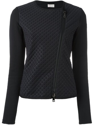 jacket cropped jacket cropped quilted black