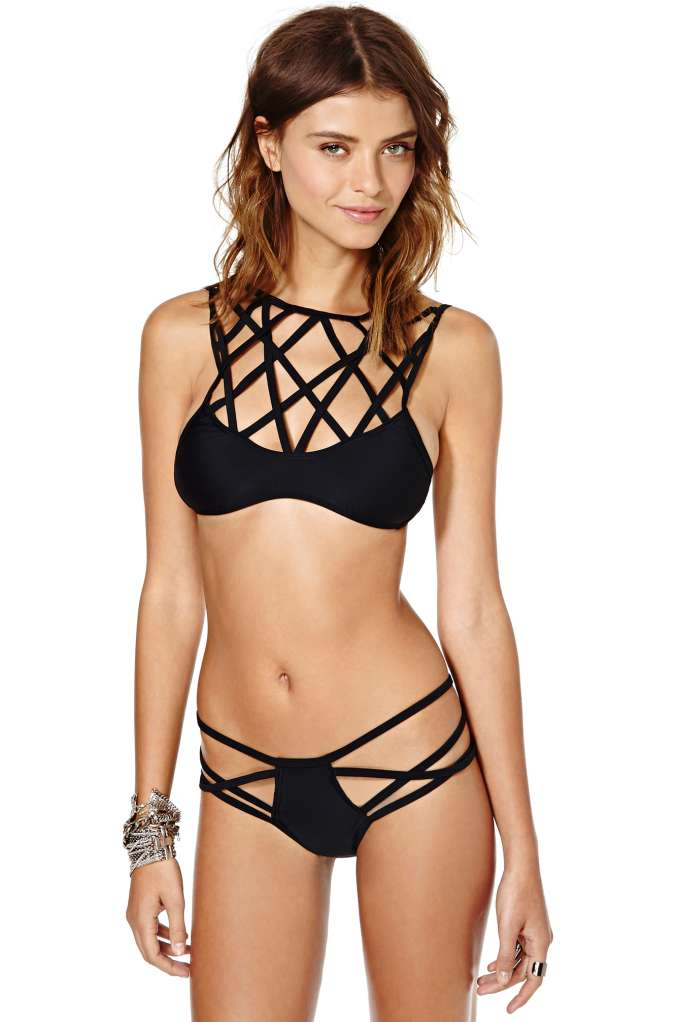 Nasty Gal Caged Chaos Bikini Set | Shop Swimwear at Nasty Gal