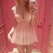 lingerie,baby pink,pink,cute,underwear,nightwear