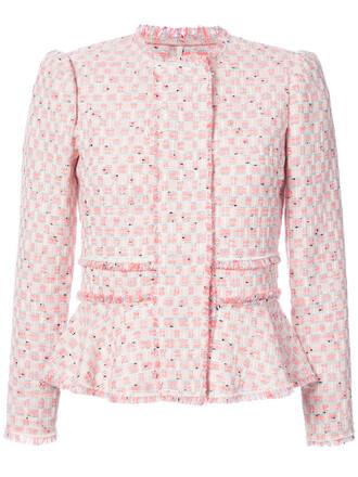 jacket women cotton wool purple pink