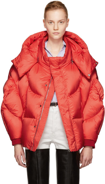 Chen Peng Red Shell Puffer Jacket Wheretoget