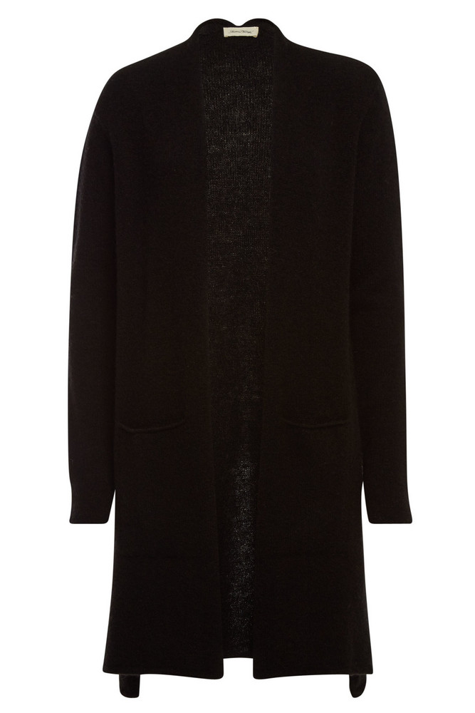 American Vintage Cardigan with Wool and Mohair  in black