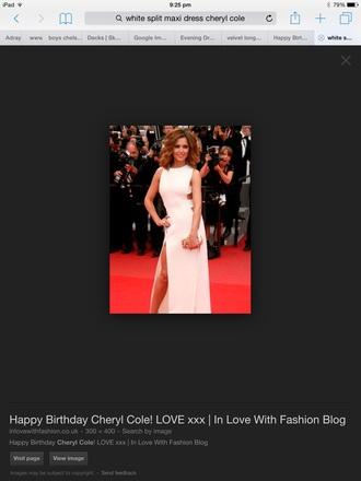cheryl cole red carpet dress