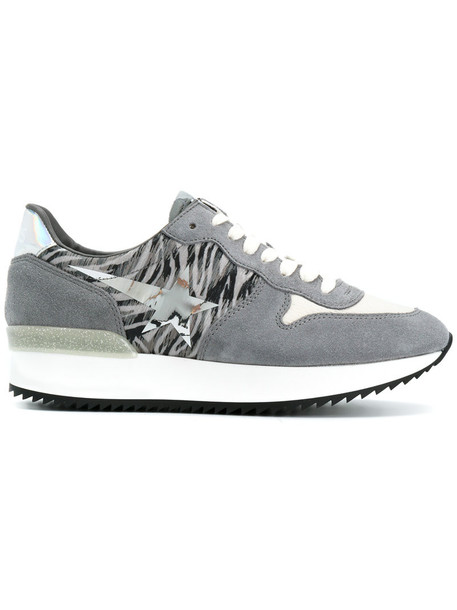 Haus By Ggdb women sneakers leather cotton suede grey shoes