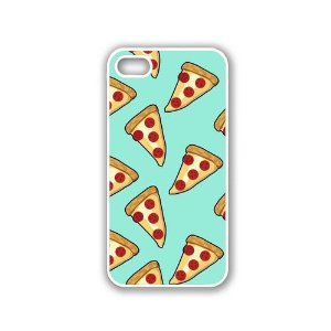 Amazon.com: Yummy Cheese Pizza Slice White iPhone 5 & 5S Case - Fits iPhone 5 & 5S: Cell Phones & Accessories