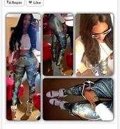 shoes,Money leggings,gold,high top sneakers,platform sneakers,wedge sneakers,white,pants