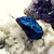 Rough Blue Titanium Quartz Wire Wrap Necklace