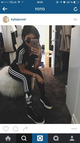 pants adidas black white adidas tracksuit