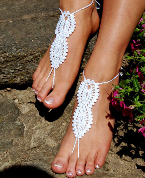 7fd456e767e shoes nude shoes beach wedding shoes barefoot sandals crochet barefoot  sandals beach wedding foot jewelry anklet