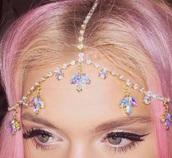 jewels,leafs,gold,headpiece,clear,multicolor,head jewels,jewelry,bling,headband,hippie headband