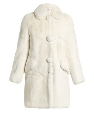 coat fur coat fur white