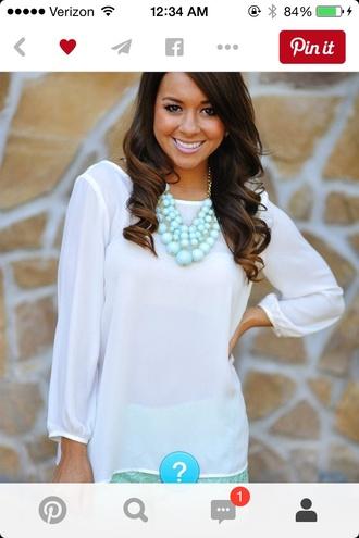 blouse white blouse