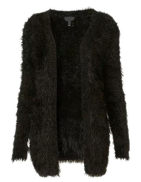 ee38adee71 cardigan brenda-shop shaggy fur cool cute black sweater black cardigan
