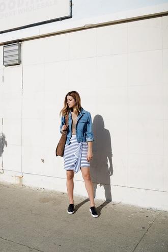 take aim blogger tank top skirt jacket shoes bag