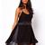 Sling dos-nu en mousseline de soie sangle arrière Clubwear féminines Mini robe de soirée