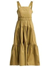 dress,cotton,khaki