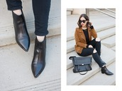 adventures in fashion,blogger,jacket,jeans,sunglasses,bag,shoes,jewels,ankle boots,black jeans,black boots,brown jacket,suede jacket,messenger bag