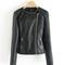 Leather stylish jacket coat pu motorcycle jacket ladies leather black | awesome world - online store
