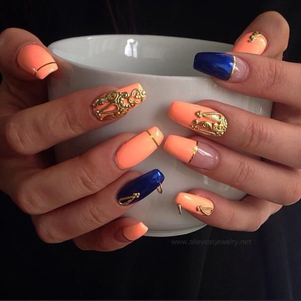 nail accessories, nails, nail jewels, nail jewelry, crown, gold ...
