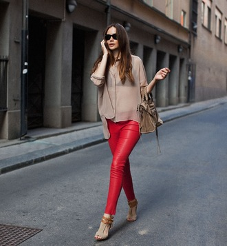 shoes high heels ankle strap heels red lime sunday pants leggings red pants red leggings red