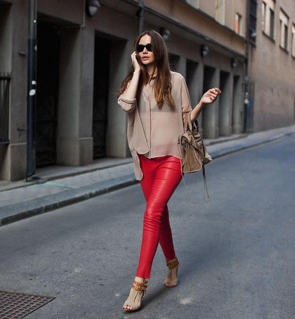 shoes high heels ankle strap heels pants leggings red pants red leggings red