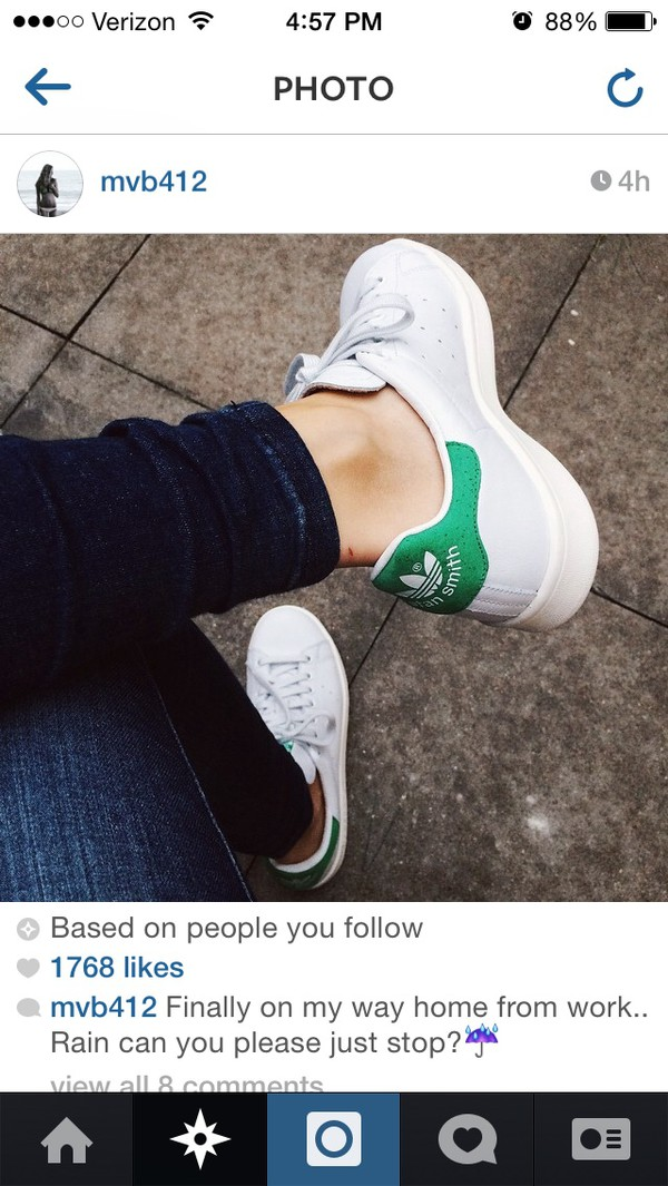 shoes white adidas adidas shoes fall outfits hipster stan smith