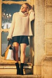 fashionism,blogger,sweater,skirt,shoes,socks,bag,sunglasses