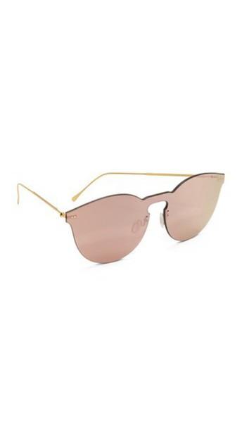 3cc44554f449 Illesteva Leonard Ii Mask Sunglasses - Rose Gold/Rose Gold - Wheretoget