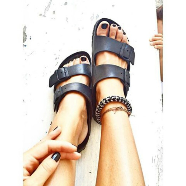 birkenstock arizona narrow fit black