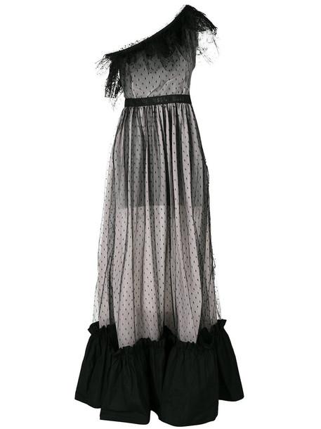 MSGM gown women black dress