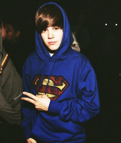 sweater superman justin bieber
