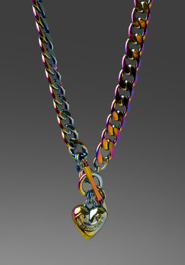 jewels iridescent juicy couture necklace rainbow