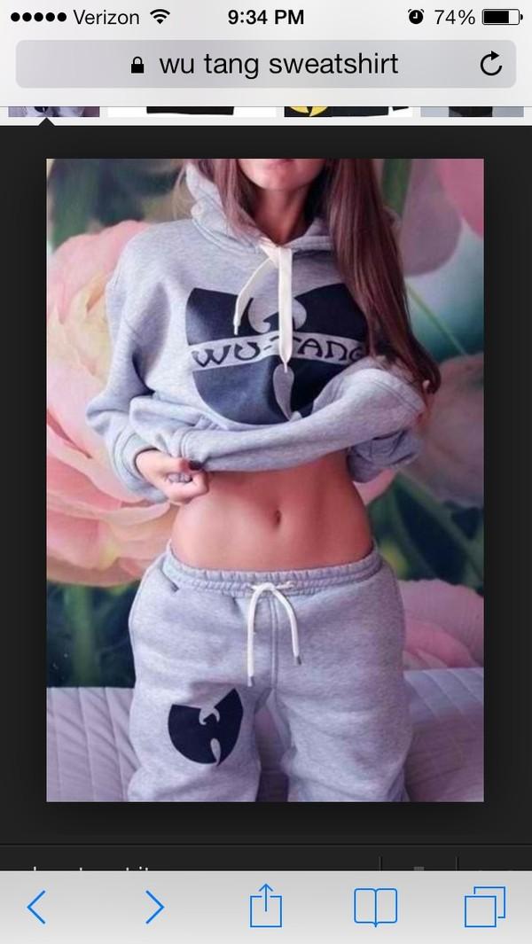jacket grey wu tang sweathshirt