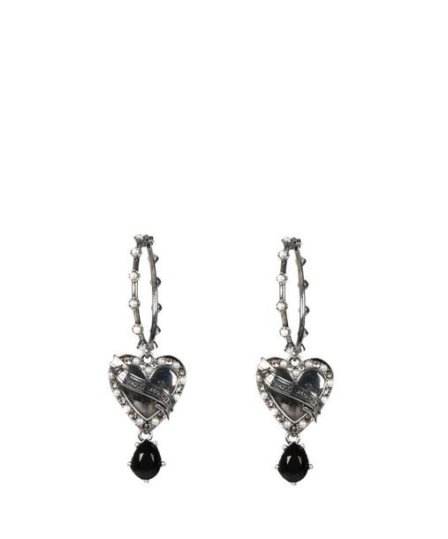 Alexander Mcqueen heart earrings jewels