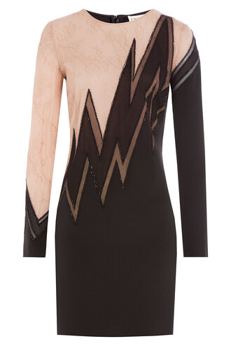 dress silk dress embellished lace silk multicolor