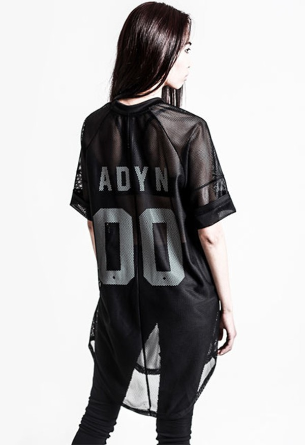 blouse adyn 00s high-low dresses high low 90s style 80s style black