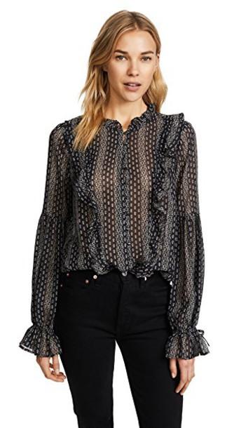 Paige blouse black top