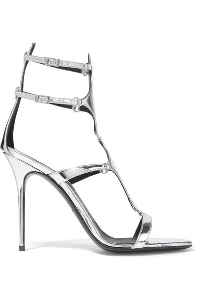 Giuseppe Zanotti Metallic Leather Sandals